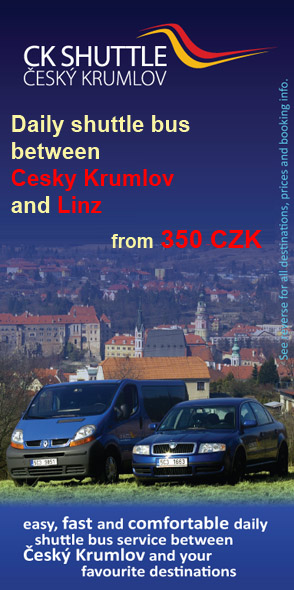CK Shuttle - daily shuttle bus between Cesky Krumlov and Linz from 350 CZK per person